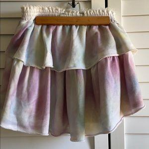 LoveShackFancy tie dye jersey skirt